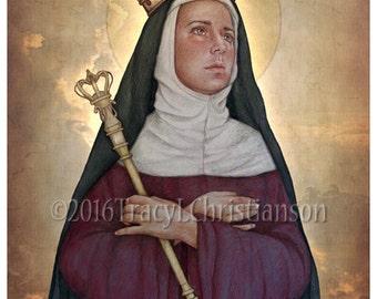 St.Matilda, Catholic Art Print, Patronage, Large families #4242