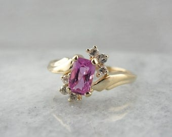 Pink Sapphire and Diamond Dinner Ring XVM8Y9-P