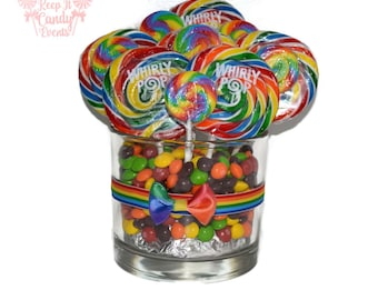Custom Lollipop Centerpiece, Rainbow Centerpiece, Candy Buffet, Rainbow Birthday Party, Rainbow Wedding Centerpiece, Rainbow Ideas, Candy