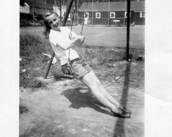Vintage Photo..Swing with Me 1940's, Original Photo, Old Photo Snapshot, Vernacular Photography, American Social History Photo