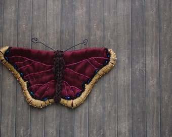 Mourning Cloak Butterfly Pin