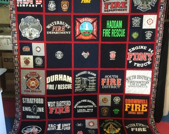 Tee Shirt Quilt Custom Made - Memory Quilt Made From 15 to 49 t-shirts