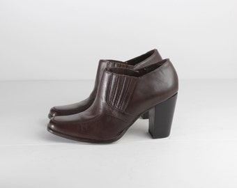 ankle boots / size 8 ankle boots / ankle booties 8.5 / high heel ankle boots