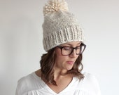 Adult Colour Block Pom Toque
