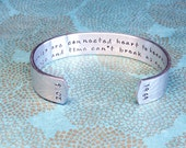 Roomie Gift | Roomate | Roomies are connected heart to heart distance and time can't break us apart | Hand Stamped Bracelet MadeByMishka.com