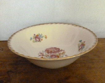 Vintage Floral Serving Bowl - Japan China Serving Bowl with Gold Trim
