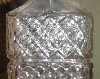 Antique Brama England Crystal Decanter