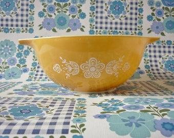 Butterfly Gold Pyrex Cinderella Bowl #442