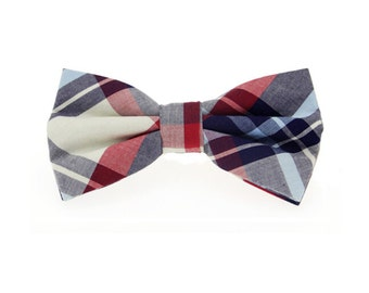 Plaid Bowtie.Mens Cotton Bowtie.Wedding Bowtie.British Glen.Gift Ideas