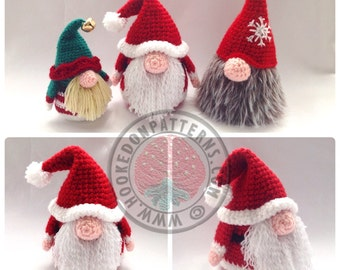Santa Gonk Christmas Decorations - Crochet PDF Pattern
