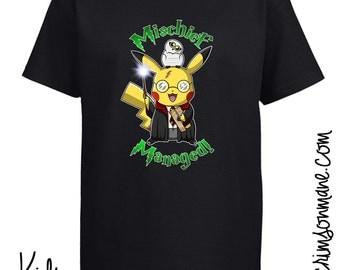 Pikachu Harry Potter Pokémon T-Shirt