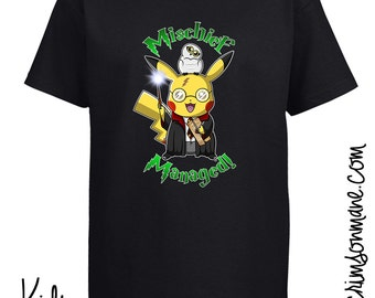 Pikachu Harry Potter Pokemon T-Shirt