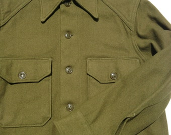 1950s US Military Wool Overshirt