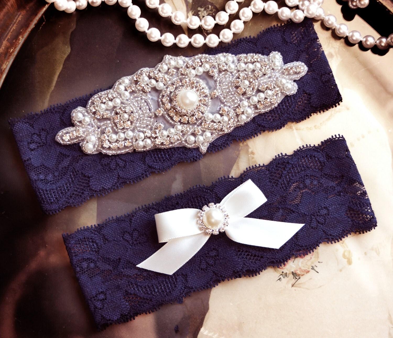 Wedding Garters Blue Lace Garter Set Blue Wedding Garter