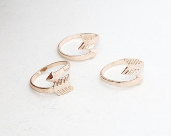 Rose Gold Arrow Rings, 17-18mm Adjustable Ring , LA , ROSE154