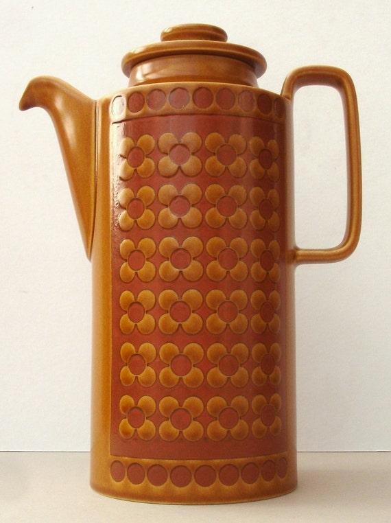 1970s Retro Hornsea Saffron Coffee Pot Vintage Tea Pot Vintage