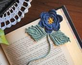 Crochet bookmark, flower, unique book lover gift