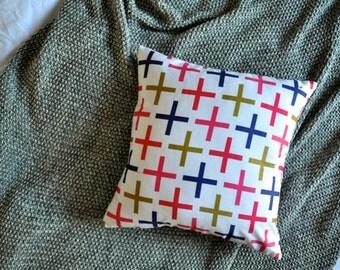 Cross Cushion Cover, Throw Pillow Cover, Throw Cushion Cover, Decorative Cushion Cover, Decorative Pillow Cover - Colourful