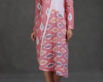 Asymmetrical Ikat Dress