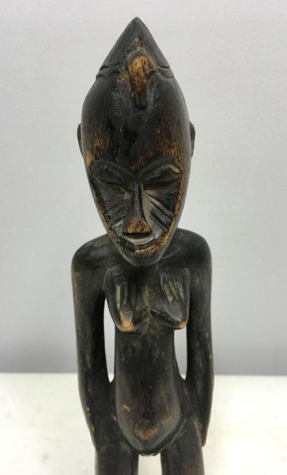 African Statue Senufo Female Statue Congo Handmade Wood Female Power Ancestor Fertility Priviledge Statue P
