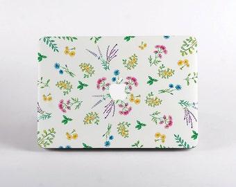 Floral Herbs MacBook Case. Hard Plastic Laptop Case Design for all MacBook Models