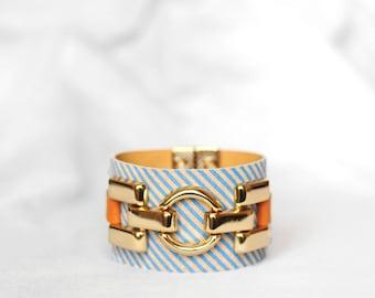 Leather Bracelet for Women Summer Bracelet Leather Cuff Bracelet Gift for Her Wide Leather Cuff Wristband Cuff Tattoo Cover Festival Jewelry