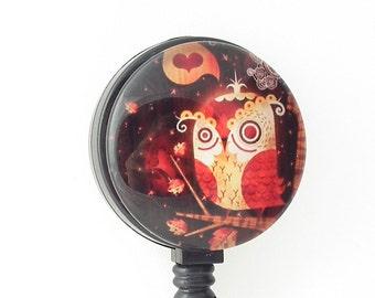 Cute Owl Badge Reel - Retractable Badge Holder, Name Badge Reel 300