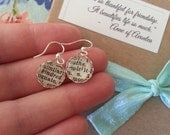 Kindred Spirit Earrings - 1930's Dictionary Clippings - One of a Kind Gift - Perfect Present - Anne of Green Gables Cute Petite Silver Drop