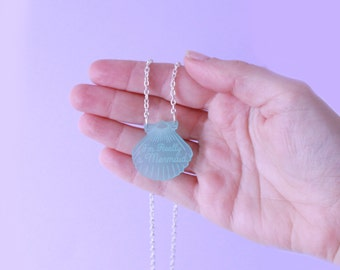 Mermaid Charm. Turquoise Necklace. gifts for her. mermaid necklace. silver necklace. gifts for mermaids. little mermaid. beach jewelry