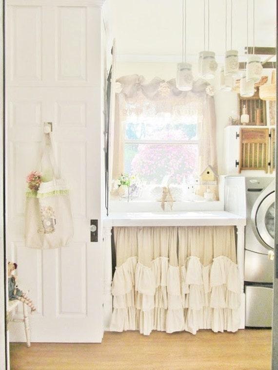 Sink Skirt Under Sink Skirt Ruffled Curtains Farmhouse