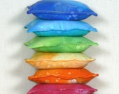 Set of Six Lavender Sachets, Aromatic Pillow, Drawer Sachet, Lavender Pillow, Lavender Sachet  Bag, Scented Sachet Pillow, Rainbow Colors