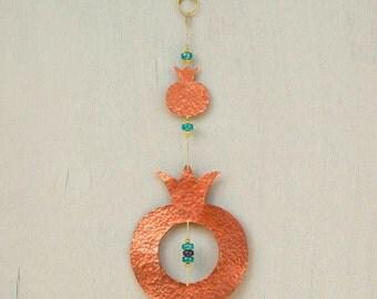 Jewish Gift Pomegranate Decor Judaica Art Home Blessing - Judaica Home Decor - Jewish Art
