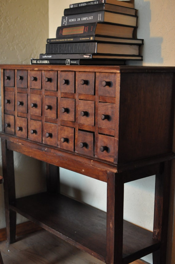 Reservedprimitive Apothecary Console Table 21 Drawer