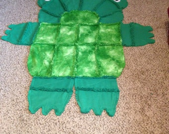 Frog Rag Quilt/wall hanging/rug