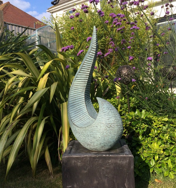 Ridge Verdigris-Sculpture - Limited Edition bronze and resin sculpture