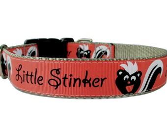 """Little Stinker Skunk Ribbon on Silver Webbing - 1"""" Width - Adjustable Sizes"""