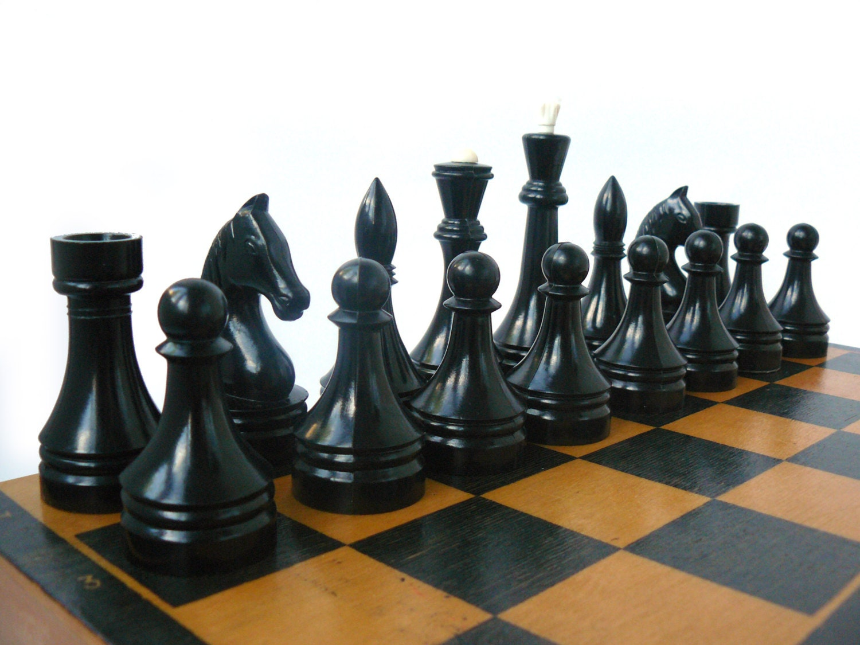 Big Vintage Chess Soviet Plastic Chess Unique Chess Sets