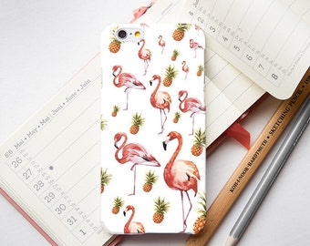 Flamingo Phone 6 Case Pineapple iPhone Case Pink Flamingo iPhone 6s Case iPhone X Phone Flamingo Case iPhone 6s Plus Pineapple Case PP1019