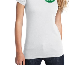 Merlotte's Bar and Grill Waitress Shirt, District Threads Shirt, Direct to Garment Shirt, Women's Shirt, White Shirt, True Blood Shirt