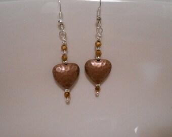 Copper Heart Earrings Item No. 162