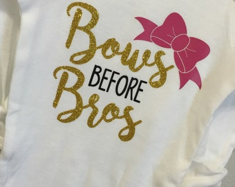 Bows before Bros Arrow Onesie