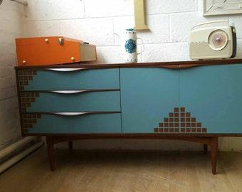 Rare vintage retro original 1960s sideboard