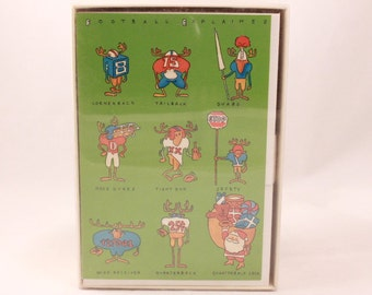 Hallmark Christmas Cards. 25 Cards and 26 Envelopes. Moose Football