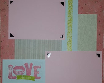 Love Always- 12x12 Premade Scrapbook Page