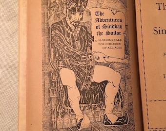 The Adventures of Sinbad the Sailor / vintage Children's Book / Hardback Book