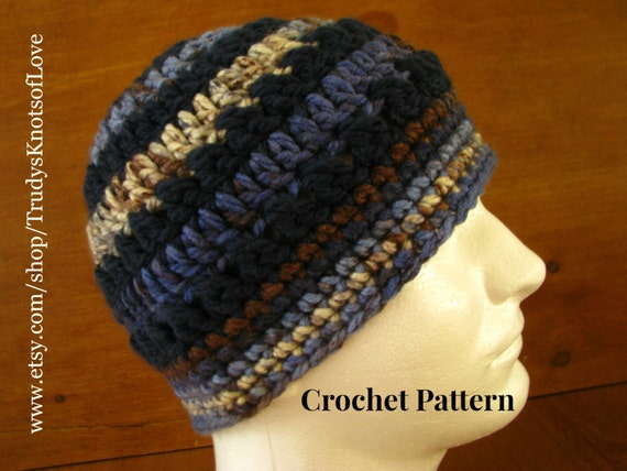 Unisex Crochet Bulky Hat PatternMens Crochet Hat