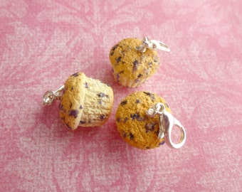 Charms Blueberry Muffin Miniature Food Jewelry Dessert Jewelry Polymer Clay Muffin