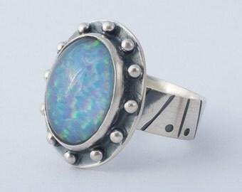 Spencer Idaho Black Opal Triplet Sterling Silver Ring