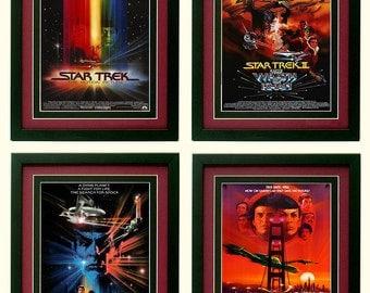 Star Trek Posters Set of 4 Custom Framed A+ Quality