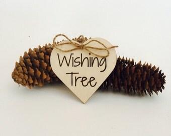 Wishing tree rustic wedding sign guest book alternative